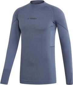 adidas TERREX Knit Langarm T Shirt Herren tech ink | campz.at